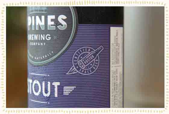 La cerveza espacial, Stout-Space Beer, de 4 Pines.