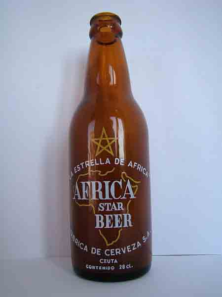 Botella Africa Star Beer.