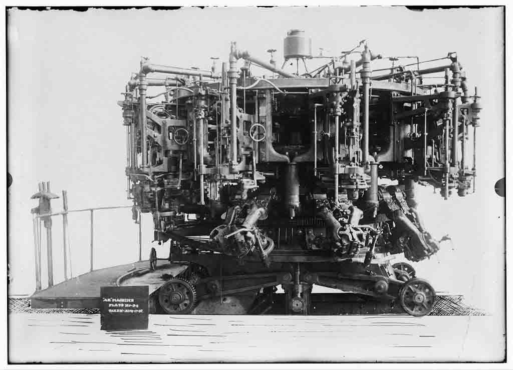 Máquina automática de producción de botellas, de Michael Owens, 1904.