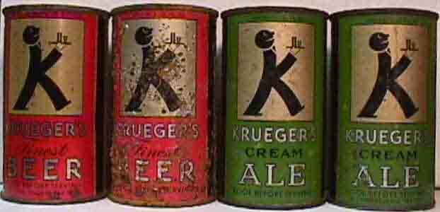 las primeras latas de cerveza.